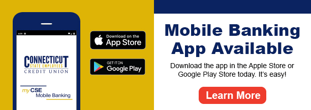 Mobile banking app now available.  Download the app in the app store or google play store today.  It's easy!  Learn more.